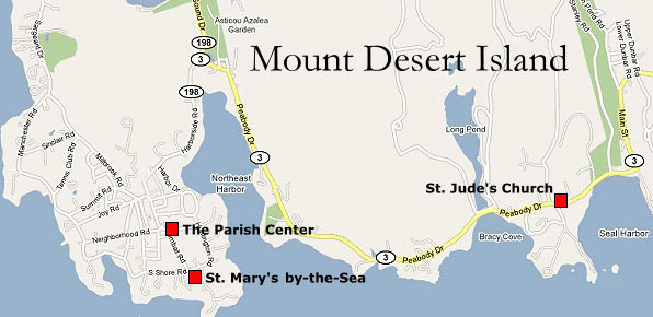 map of Northeast Harbor